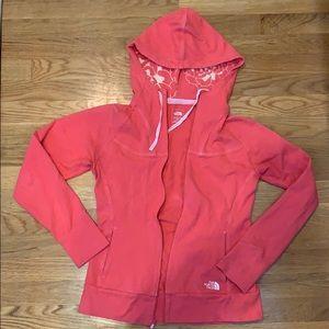 North face zip up sweatshirt